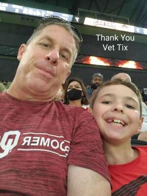 Mark attended Arizona Rattlers vs. Tucson Sugar Skulls on Aug 8th 2021 via VetTix