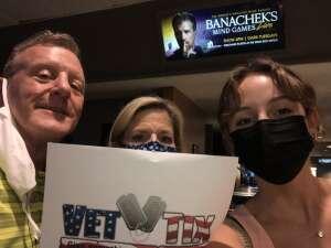 Joe attended Banachek's Mind Games on Aug 9th 2021 via VetTix