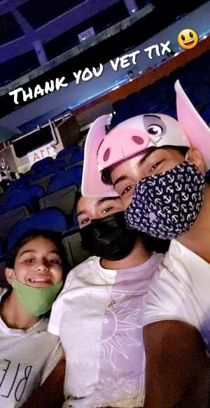 Bella attended Disney on Ice Presents Mickey's Search Party on Sep 3rd 2021 via VetTix