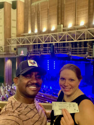 Percy attended A Tribute to Marvin Gaye Featuring Raheem Devaughn and Friends on Aug 14th 2021 via VetTix
