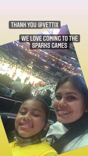 Elaine Munoz attended LA Sparks vs. Atlanta Dream - WNBA on Aug 17th 2021 via VetTix