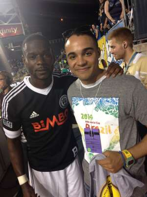 Carter attended Philadelphia Union vs. New York City FC - MLS on Aug 18th 2021 via VetTix