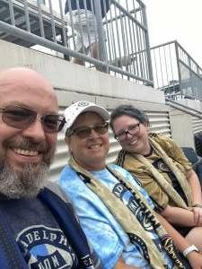 Darrin T attended Philadelphia Union vs. New York City FC - MLS on Aug 18th 2021 via VetTix