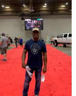 MSG Fisher attended Barrett-jackson 2021 Houston Auction on Sep 18th 2021 via VetTix