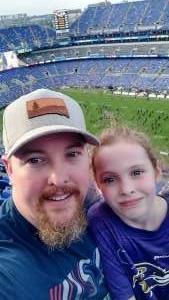 Laurance attended Baltimore Ravens vs. New Orleans Saints - NFL on Aug 14th 2021 via VetTix