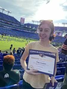 James F attended Baltimore Ravens vs. New Orleans Saints - NFL on Aug 14th 2021 via VetTix