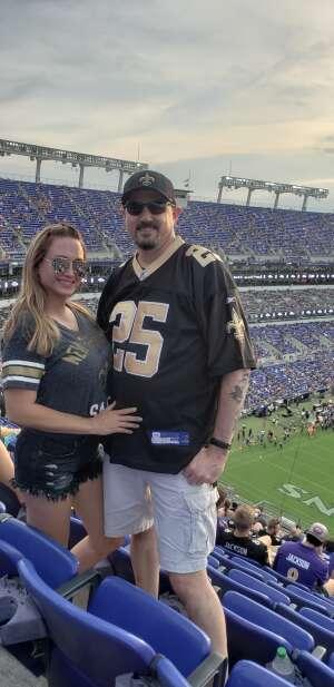 Pete & Lori Beck attended Baltimore Ravens vs. New Orleans Saints - NFL on Aug 14th 2021 via VetTix