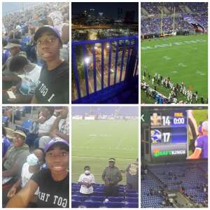 Angel attended Baltimore Ravens vs. New Orleans Saints - NFL on Aug 14th 2021 via VetTix