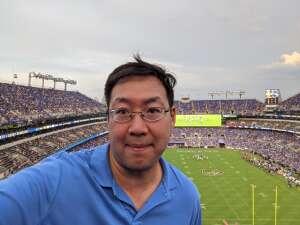 DK attended Baltimore Ravens vs. New Orleans Saints - NFL on Aug 14th 2021 via VetTix