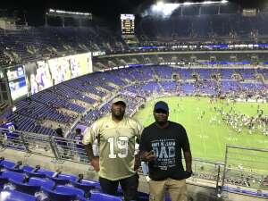 AK2 Southerland  attended Baltimore Ravens vs. New Orleans Saints - NFL on Aug 14th 2021 via VetTix