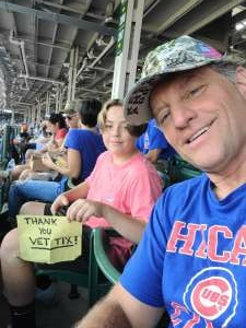 Brian attended Chicago Cubs vs. San Francisco Giants - MLB on Sep 12th 2021 via VetTix