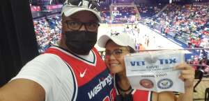 Rich attended Washington Mystics vs. Dallas Wings - WNBA on Aug 28th 2021 via VetTix