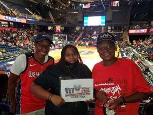 Dale L. Madyun-Baskerville attended Washington Mystics vs. Dallas Wings - WNBA on Aug 28th 2021 via VetTix