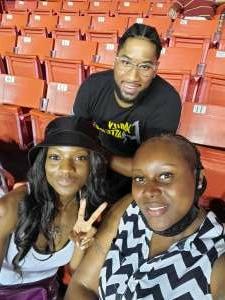 BeeCee attended Washington Mystics vs. Dallas Wings - WNBA on Aug 28th 2021 via VetTix