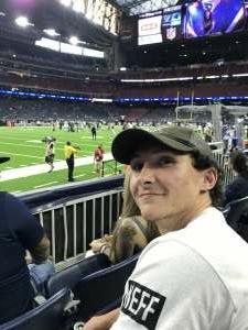 James Wright attended Houston Texans vs. Carolina Panthers - NFL on Sep 23rd 2021 via VetTix
