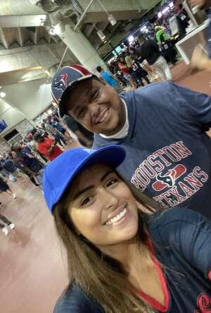 Jose attended Houston Texans vs. Carolina Panthers - NFL on Sep 23rd 2021 via VetTix