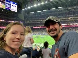 Stephen V attended Houston Texans vs. Carolina Panthers - NFL on Sep 23rd 2021 via VetTix