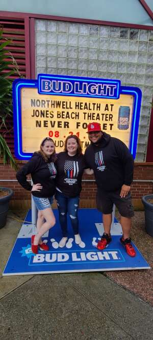 James  attended Tunnel to Towers Foundation's Never Forget Concert on Aug 21st 2021 via VetTix