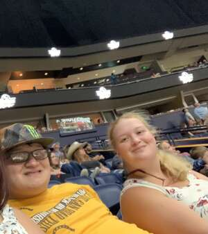 Cook Family  attended PBR Unleash the Beast on Aug 22nd 2021 via VetTix
