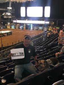 Cpl Jacobs attended PBR Unleash the Beast on Aug 22nd 2021 via VetTix
