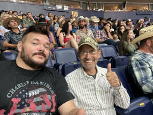 Drew and Family attended PBR Unleash the Beast on Aug 22nd 2021 via VetTix