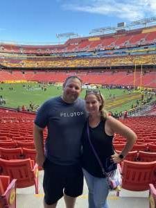 James attended Washington Football Team vs. Cincinnati Bengals - NFL on Aug 20th 2021 via VetTix