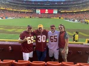 Senior Chief Madera attended Washington Football Team vs. Cincinnati Bengals - NFL on Aug 20th 2021 via VetTix