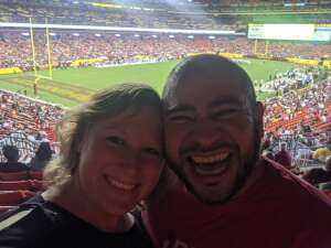 Shannon attended Washington Football Team vs. Cincinnati Bengals - NFL on Aug 20th 2021 via VetTix
