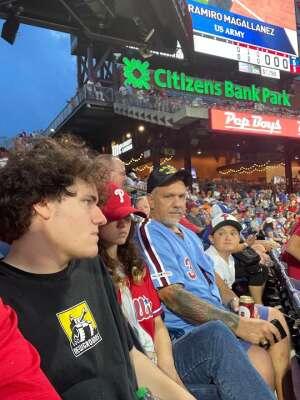 Steven attended Philadelphia Phillies vs. Arizona Diamondbacks - MLB on Aug 26th 2021 via VetTix