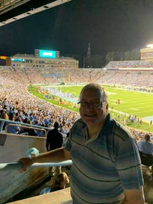 Brad attended North Carolina Tar Heels vs. Georgia State Panthers - NCAA Football ** First Responder Appreciation Night ** on Sep 11th 2021 via VetTix