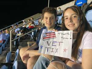 J Reynolds attended North Carolina Tar Heels vs. Georgia State Panthers - NCAA Football ** First Responder Appreciation Night ** on Sep 11th 2021 via VetTix