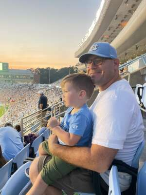David attended North Carolina Tar Heels vs. Georgia State Panthers - NCAA Football ** First Responder Appreciation Night ** on Sep 11th 2021 via VetTix