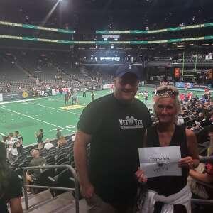 Geoff & Jewels attended Arizona Rattlers vs. Tba - IFL Playoffs Round 1 on Aug 29th 2021 via VetTix