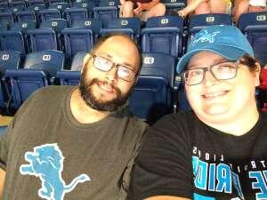 Sandra attended Detroit Lions vs. Indianapolis Colts - NFL Preseason on Aug 27th 2021 via VetTix