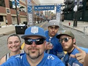 Rosie  attended Detroit Lions vs. Indianapolis Colts - NFL Preseason on Aug 27th 2021 via VetTix