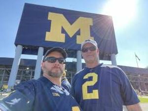 J.R. attended University of Michigan Wolverines vs. Northern Illinois University - NCAA Football on Sep 18th 2021 via VetTix