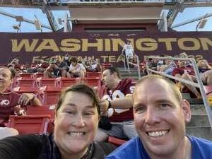 Stephanie attended Washington Football Team vs. Baltimore Ravens - NFL on Aug 28th 2021 via VetTix