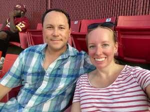 James and Katelynn attended Washington Football Team vs. Baltimore Ravens - NFL on Aug 28th 2021 via VetTix