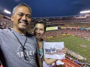Joe attended Washington Football Team vs. Baltimore Ravens - NFL on Aug 28th 2021 via VetTix