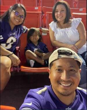 Taryn attended Washington Football Team vs. Baltimore Ravens - NFL on Aug 28th 2021 via VetTix