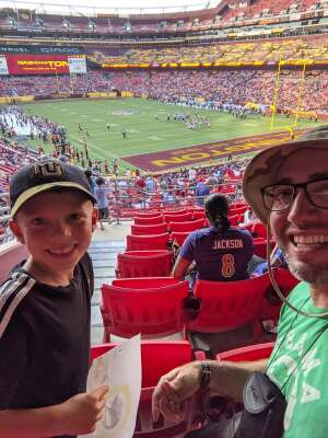 Alex attended Washington Football Team vs. Baltimore Ravens - NFL on Aug 28th 2021 via VetTix