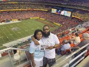Derek Berrien attended Washington Football Team vs. Baltimore Ravens - NFL on Aug 28th 2021 via VetTix