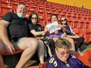 Ray Luellen attended Washington Football Team vs. Baltimore Ravens - NFL on Aug 28th 2021 via VetTix