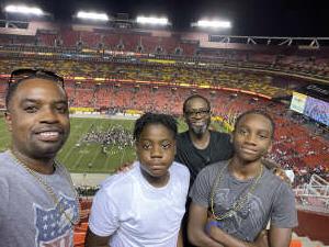 Clarence attended Washington Football Team vs. Baltimore Ravens - NFL on Aug 28th 2021 via VetTix