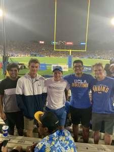 Digger Crosby attended UCLA Bruins vs. LSU - NCAA Football on Sep 4th 2021 via VetTix