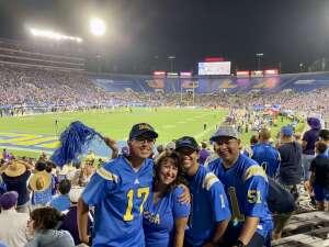 D. Rivas attended UCLA Bruins vs. LSU - NCAA Football on Sep 4th 2021 via VetTix
