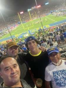 Edgar attended UCLA Bruins vs. LSU - NCAA Football on Sep 4th 2021 via VetTix