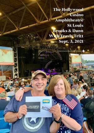 Rich and Dawn attended Brooks & Dunn Reboot 2021 Tour on Sep 3rd 2021 via VetTix