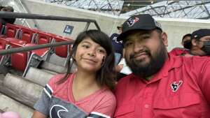 Abe attended Houston Texans vs. Tampa Bay Buccaneers - NFL on Aug 28th 2021 via VetTix
