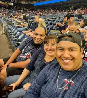 Luis Flores attended Houston Texans vs. Tampa Bay Buccaneers - NFL on Aug 28th 2021 via VetTix
